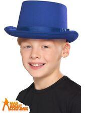 9a506448566c1 Child Blue Top Hat 1920s Dance Magician Victorian Fancy Dress Accessory Kids