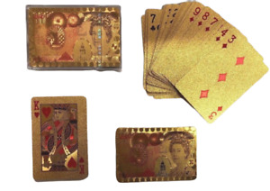 NEW HIGH QUALITY PROFESSIONAL PLASTIC COATED PLAYING CARDS-GOLD PLATED