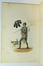 "William Cornwallis Harris ""Bechuana Of Distinction"" 1852 Africa Lithograph"