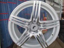 RONDELL 0217 FELGENSATZ WEISS POLIERT IN 8,5Jx18 ET33 5x112mm für VW, Audi...