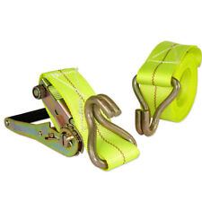 "2"" x 20' ft Ratchet Tie Down with J Hook Cargo Strap Quick Thumb Release Ties"