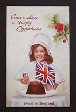 Raphael Tuck Postcard Christmas Pudding WW1 Harmer Green Welwyn Hertfordshire