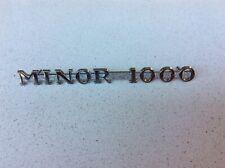 "Morris Minor Chrome Side Bonnet Badge - ""MINOR 1000"""