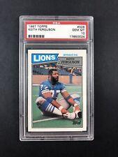 1987 Topps Football Card Graded Gem Mint PSA 10 Keith Ferguson 326 Detroit Lions
