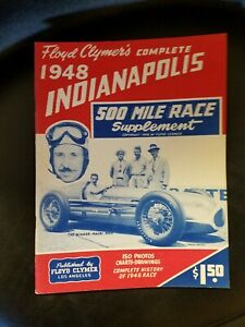 Floyd Cramer's 1948 Indianapolis Race History Program COMPLETE (Supplement)