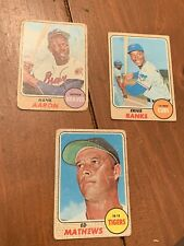 1968 Topps Baseball Cards Set Starter 318/598  Almost All High Numbers!