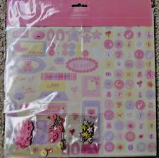 Paperchase Tiny Tots Scrapbooking Kit Baby Girl  New in Package Stickers