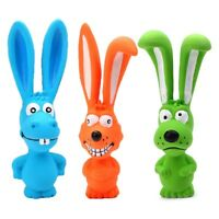 Puppy Screaming Rubber Rabbit For Dogs Latex Squeak Squeaker Chew Training Toy