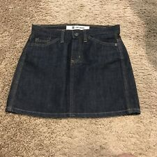 Women's Gap Dark Blue Denim Blue Jean Mini Skirt Size 2 EUC