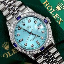 Rolex 26mm Datejust Ice Blue Jubilee Bracelet custom Sapphire & diamonds Bezel
