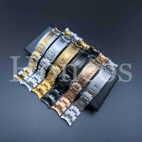 21MM Watch Band Bracelet Shiny Stilver Gold Sea-Dweller And Deepsea Fits Rolex