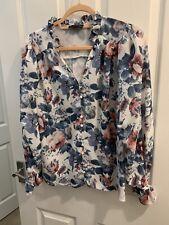 Nello stile-Lorna Luxe Blusa di stampa floreale-taglia 12