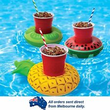 3 Pack Fruit Cup Floating Inflatable Drink Holder Pool Party Beach