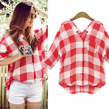 NEW Womens Loose Long Sleeve Chiffon Casual Blouse Shirt Tops Fashion Blouse