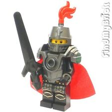 C304 Lego Castle Hero Knight Minifigure with Armor Cape & Greatsword NEW