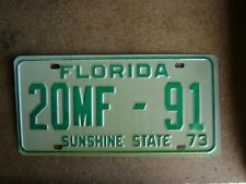 1973  FLORIDA DEALER LICENSE PLATE  # 20MF - 91
