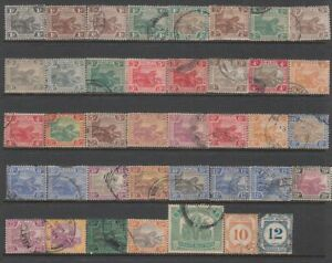 Federated Malay States - 39no. different stamps 1900-1924 (CV $266)