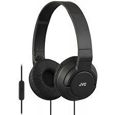 JVC HA-SR185 Lightweight Foldable Headphones with in-Line Remote & Mic (Black)