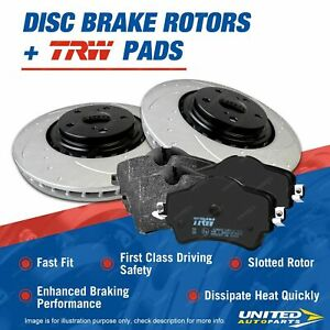Front Slotted Brake Rotors Pads for Toyota Hilux GUN136 KUN16 KUN26 GUN126
