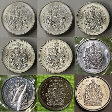 1991 1993 1994 1995 1996 1997 1998 1999 2000 2001 Canada 50 Cents #Choose 1 #