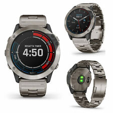 Garmin Quatix 6X Solar Titanium w/Titanium Band Smart GPS Running Cycling Watch
