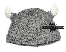 CASQUETTE LAINE CASQUE VICHINGO POUR bébé avec des cornes pirata chapeau hat