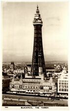 Blackpool Großbritannien vintage postcard 1953 view to the Tower Aero Pictorial