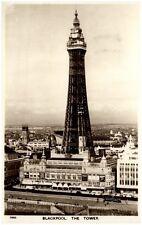 Blackpool United Kingdom Vintage Postcard 1953 view to the Tower Aero Pictorial