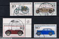 GERMANIA 4 FRANCOBOLLI PRO GIOVENTU AUTOMOBILE JUGEND 1982 usato