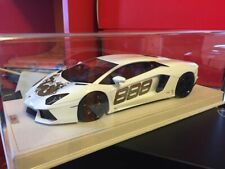 "MR 1/18 Lamborghini Aventador ""DRAGON 888"", white, new, no bbr/kyosho - NO BOX"