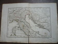 GRANDE CARTE ITALIE DELAMARCHE 1816