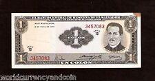 EL SALVADOR 1 COLON P110 1970 COLON UNC TONE LATINO CURRENCY MONEY BILL BANKNOTE