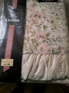 """New vintage Dorma """"Country Diary"""" Wild Flowers Double Duvet Cover Unused"""