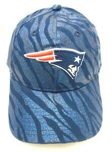 New England Patriots Women's New Era 9TWENTY Adjustable Cap Hat Glitter Zebra