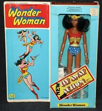 """Mego 12"""" 1977 Wonder Woman with Outfits No Lynda Carter MIB 2nd Issue"""