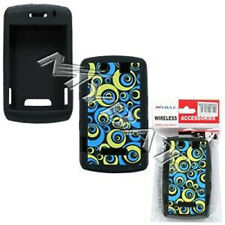 Blue Groove Rubber Skin Case BlackBerry Storm 9530