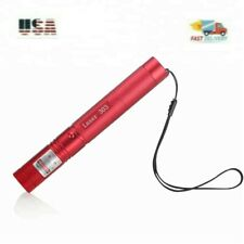Laser Pointer Rechargeable *Red* Case ~ Military 303 + battery + Keys + Charger