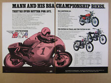 1972 Bsa Lightning 650 Victor 500 Trail & Mx motorcycles vintage print Ad