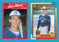 1990 TOPPS TRADED JOHN OLERUD ROOKIE 2 CARD LOT #83T DONRUSS #711 RC BLUE JAYS