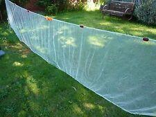 Bait Seine Drag Net - 10 mm (3/8ths inch) knotted white nylon mesh.