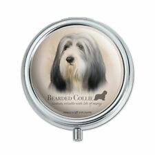 Bearded Collie Dog Breed Pill Case Trinket Gift Box