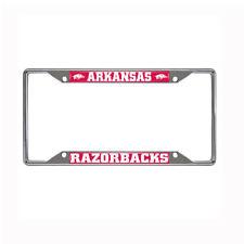 New NCAA Arkansas Razorbacks Car Truck Chrome Metal License Plate Frame
