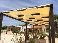 TELI ONDA,FASCE in PVC SU MISURA pergole tettoie pompeiane ombreggiante su e giù