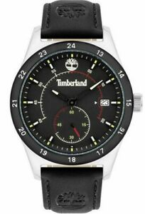 Men's Watch Timberland Genuine Leather Black Case Steel New Collection 2021