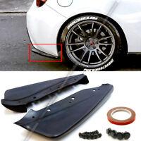 For 12-18 86 BRZ FR-S Unpainted CS Style Rear Bumper Aprons Add On Lip Spoiler