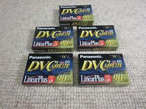Panasonic DVC Cassette Linear Plus Lot of 5 Sealed Unopened AY-DVM60EJ Mini DV