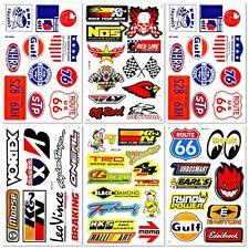 Car Auto Parts Drag Racer Racing D6730 Lot 6 Vinyl Graffiti Decal Stickers Sheet