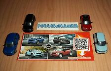 BMW MINI COOPER COMPLETE SET OF 4 WITH ALL PAPERS KINDER SURPRISE 2014/2015