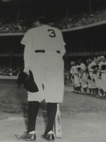 """Babe Ruth Tribute to the Babe Archival Matted B&W Photo 11"""" x 14"""""""