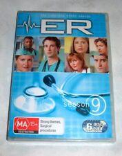 ER - THE COMPLETE NINTH SEASON (SERIES 9) 6 DVD SET - REGION 4 -  NEW & SEALED